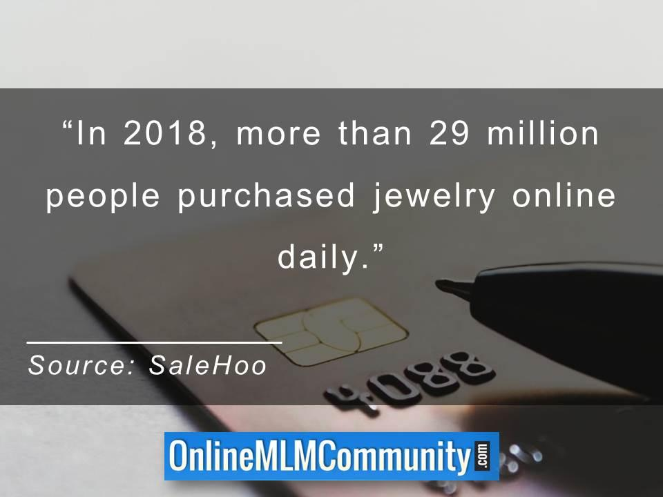 more than 29 million people purchased jewelry online daily