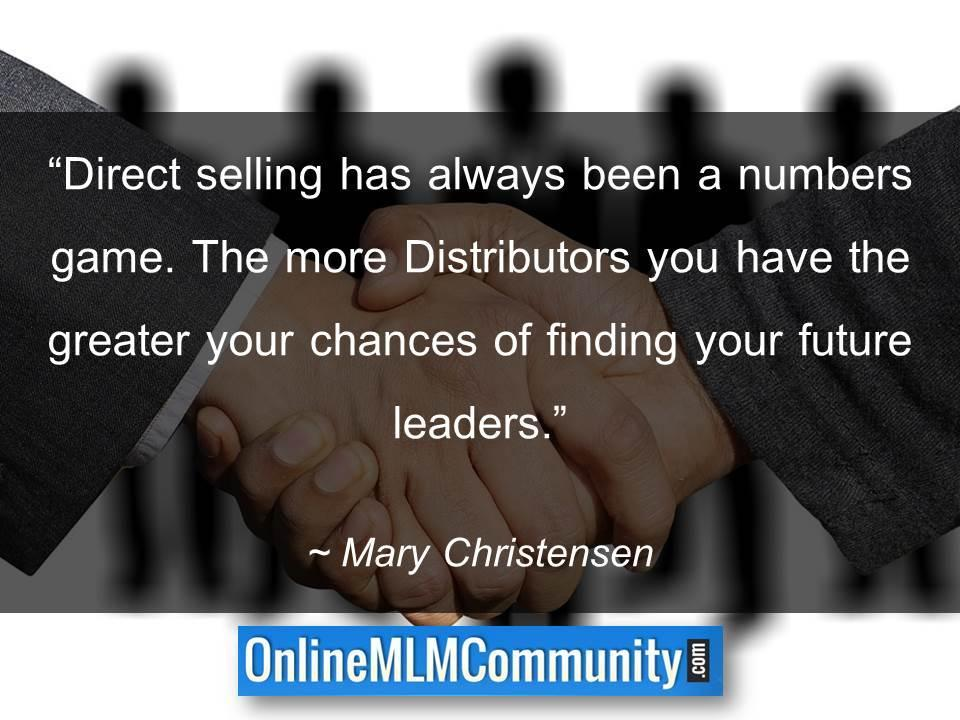 Direct selling has always been a numbers game