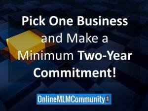 pick one business and make a two year commitment