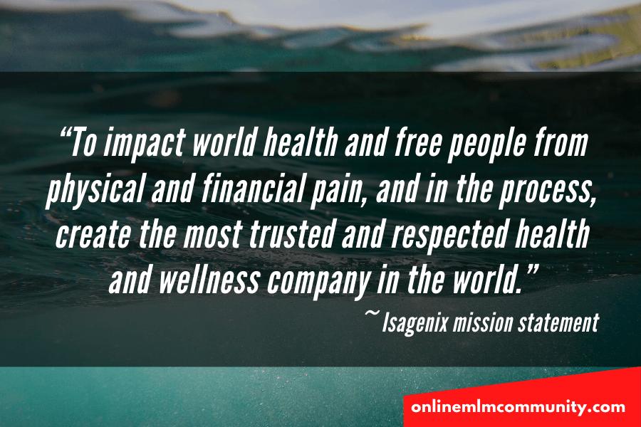 isagenix mission statement