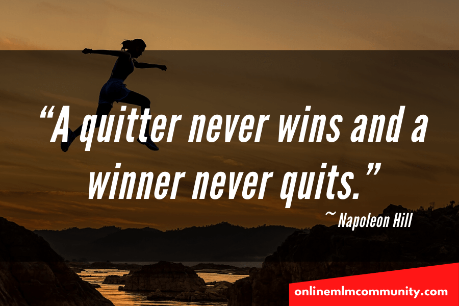 napoleon hill quote on quitting