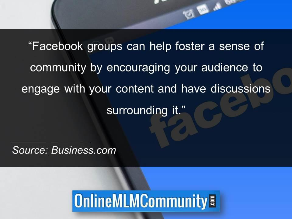 Facebook groups can help foster a sense of community