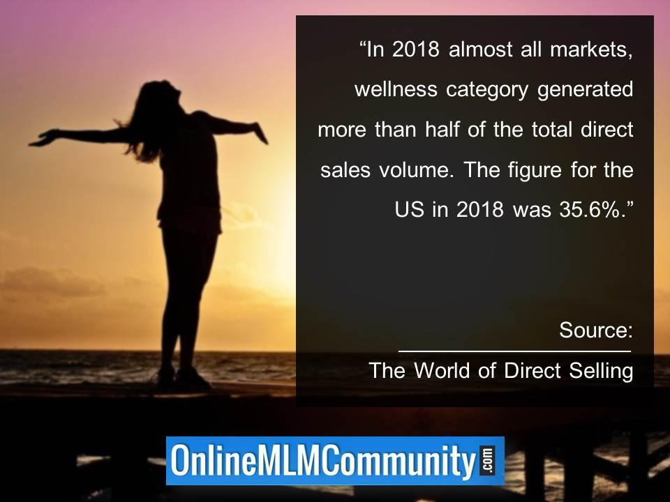 wellness category generated more than half of the total direct sales volume