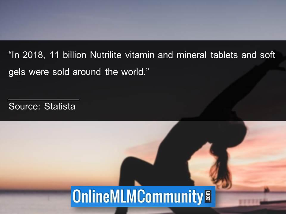 11 billion Nutrilite vitamin and mineral tablets and soft gels were sold around the world