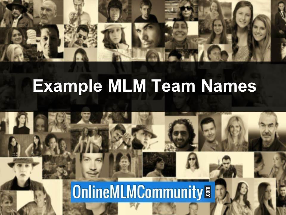 example mlm team names