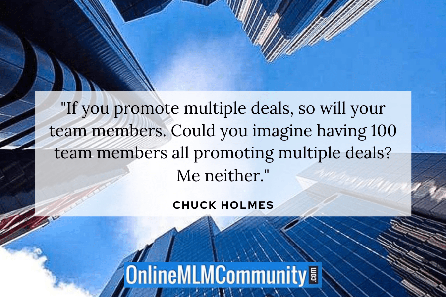 team members promote multiple mlm companies