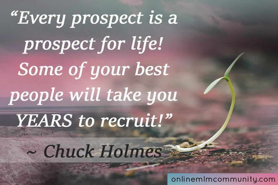 every prospect is a prospect for life