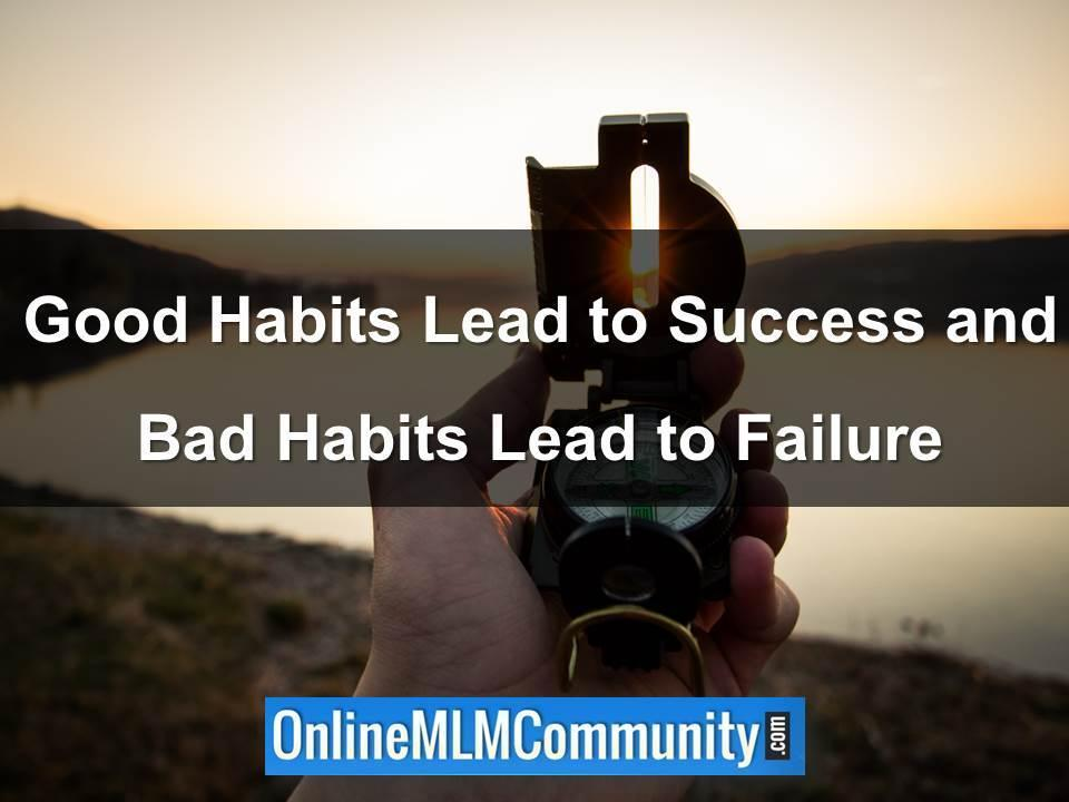 good habits lead to success