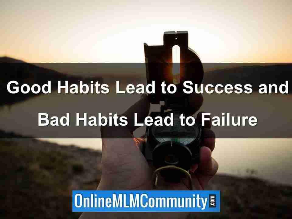 good habits lead to success