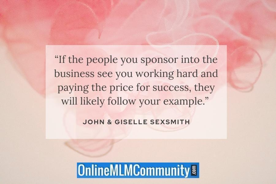 lead by example in mlm