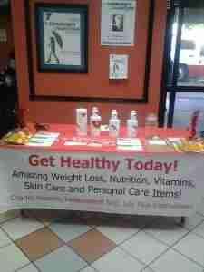 booth at health fair