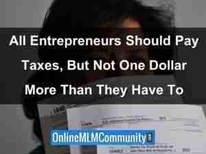 entrepreneurs should pay taxes