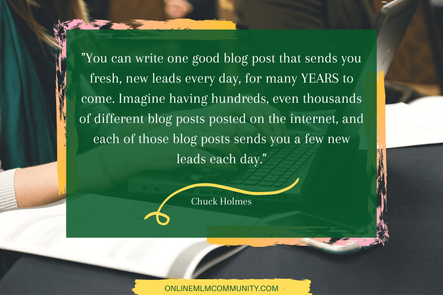 leads by blogging