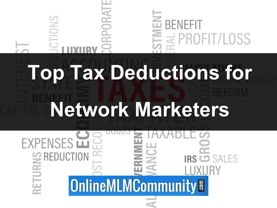 tax deductions for network marketers