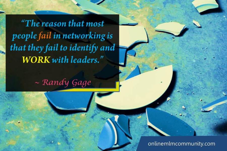 people fail in networking is that they fail to identify and WORK with leaders