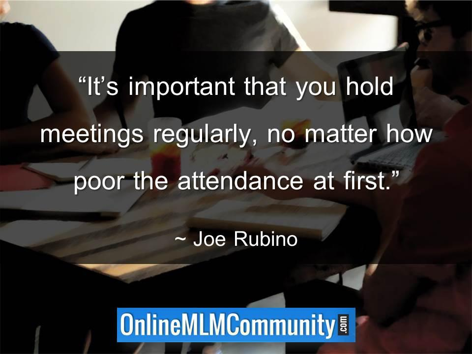 Its important that you hold meetings regularly v2