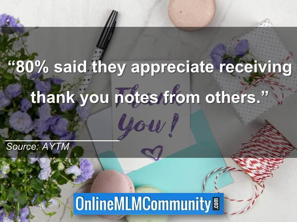 using thank you notes