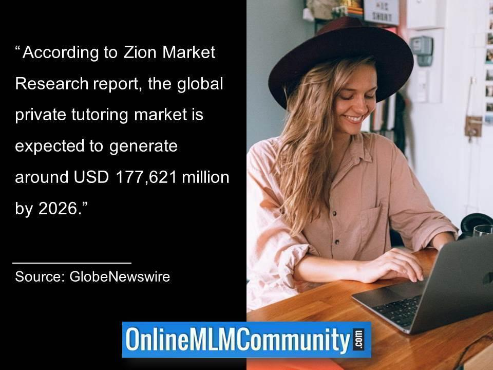 Private tutoring market is expected to generate around USD 177,621 million by 2026.