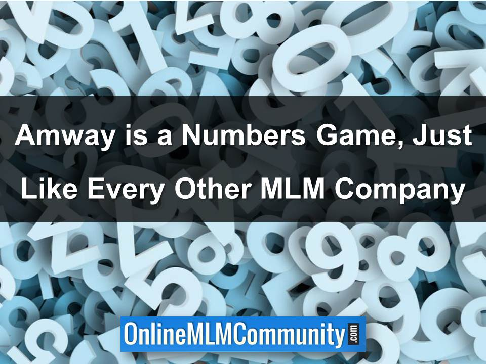 Amway is a Numbers Game