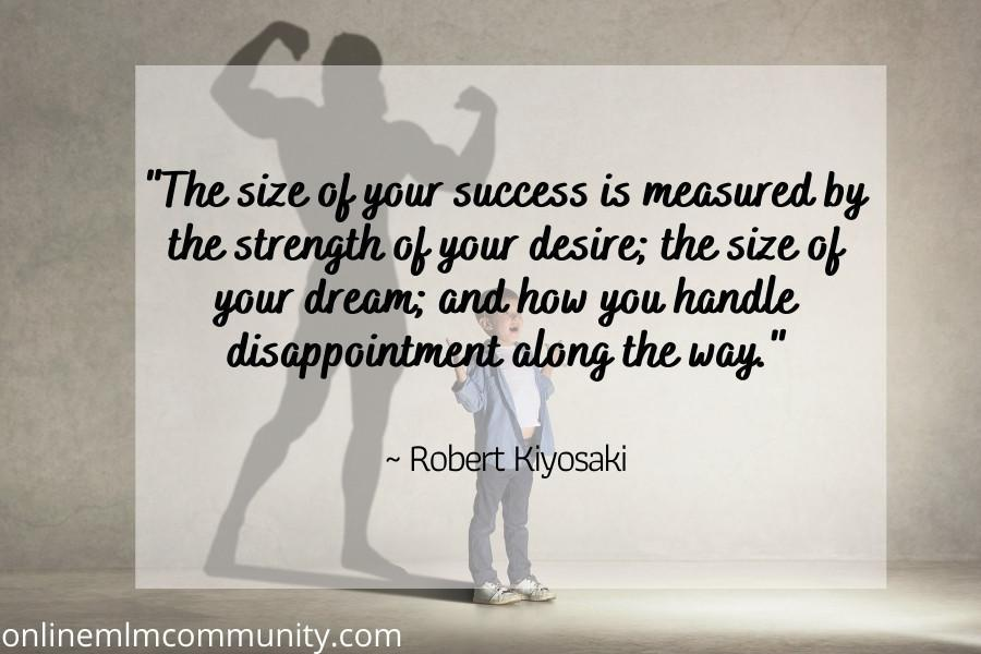 size of desire equals success