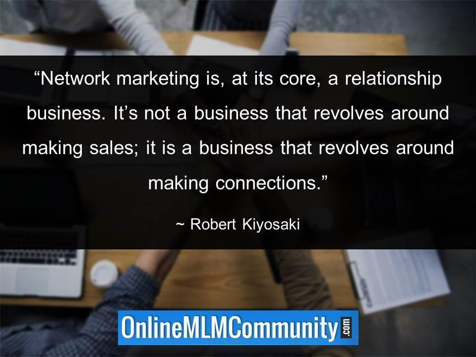 it is a business that revolves around making connections