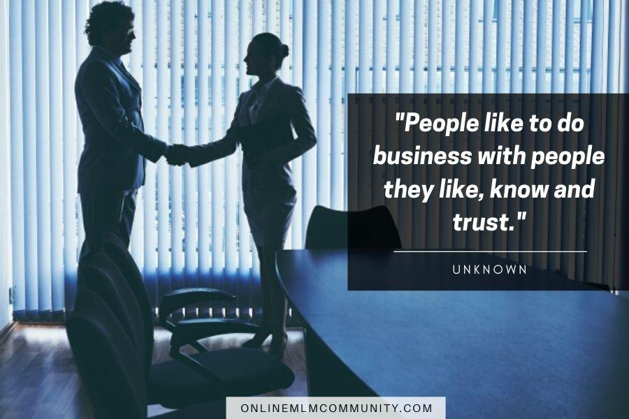 people like to do business with people they know