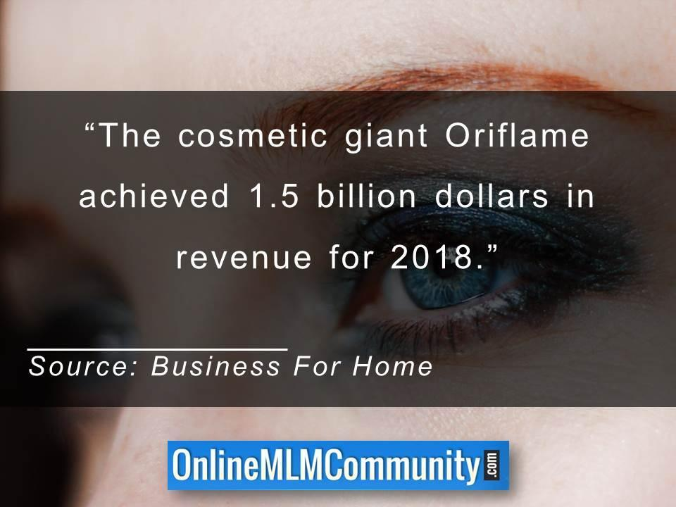 Oriflame achieved 1 and half billion dollars in revenue for 2018