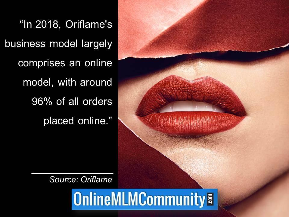 Oriflames business model largely comprises an online model