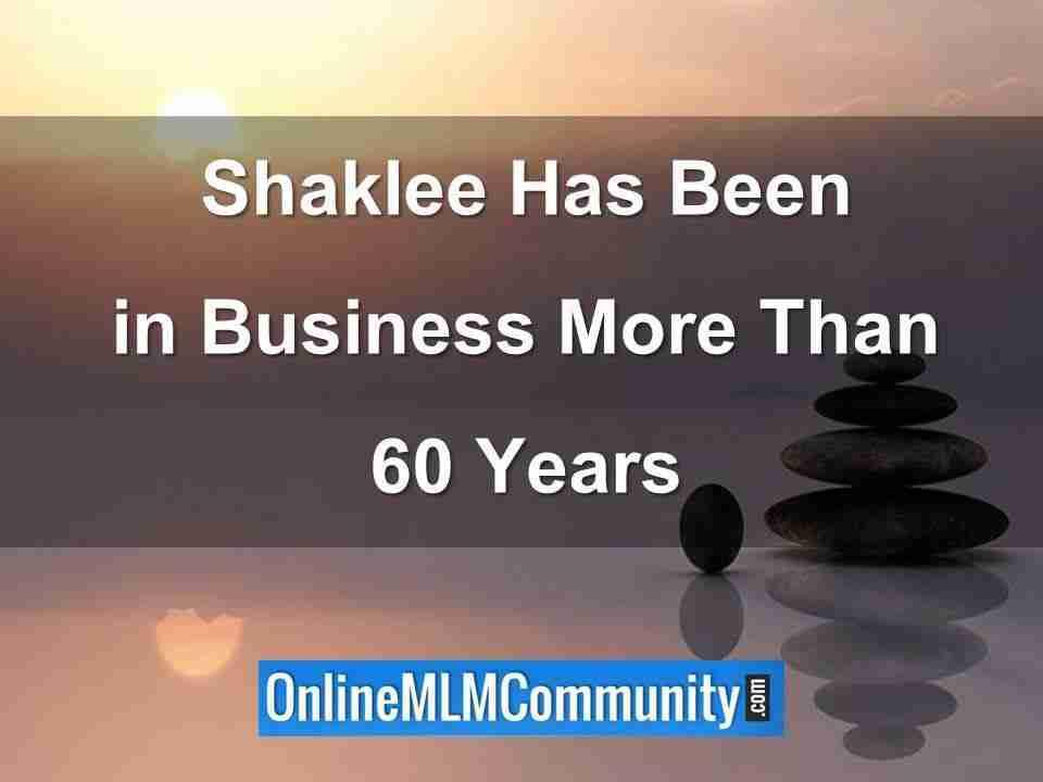 shaklee has been in business