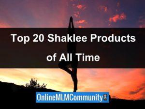 top 20 shaklee products