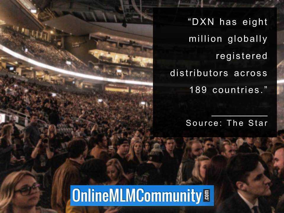 DXN has eight million globally registered distributors across 189 countries