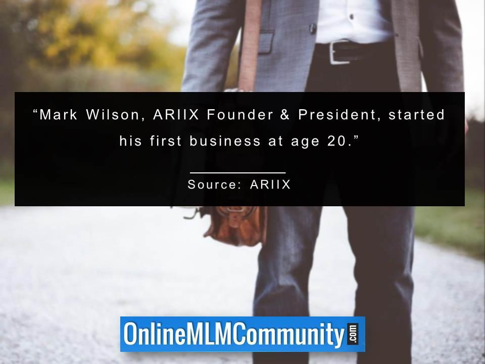 Mark Wilson started his first business at age 20