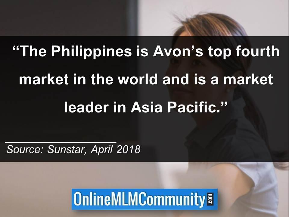The Philippines is Avon's top fourth market in the world
