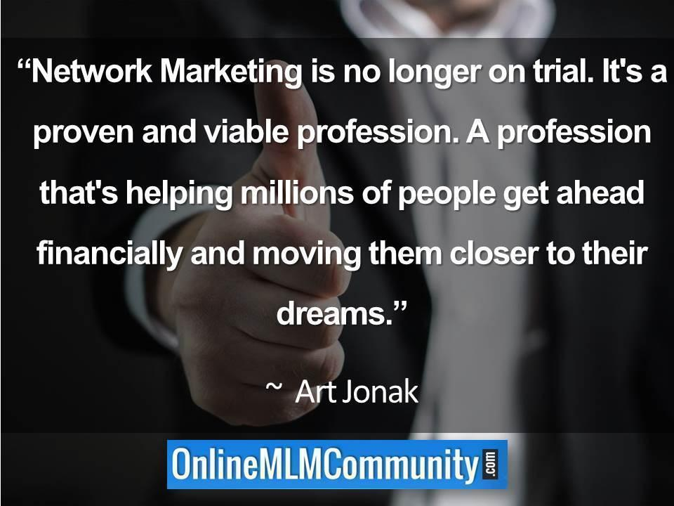 Network Marketing is no longer on trial