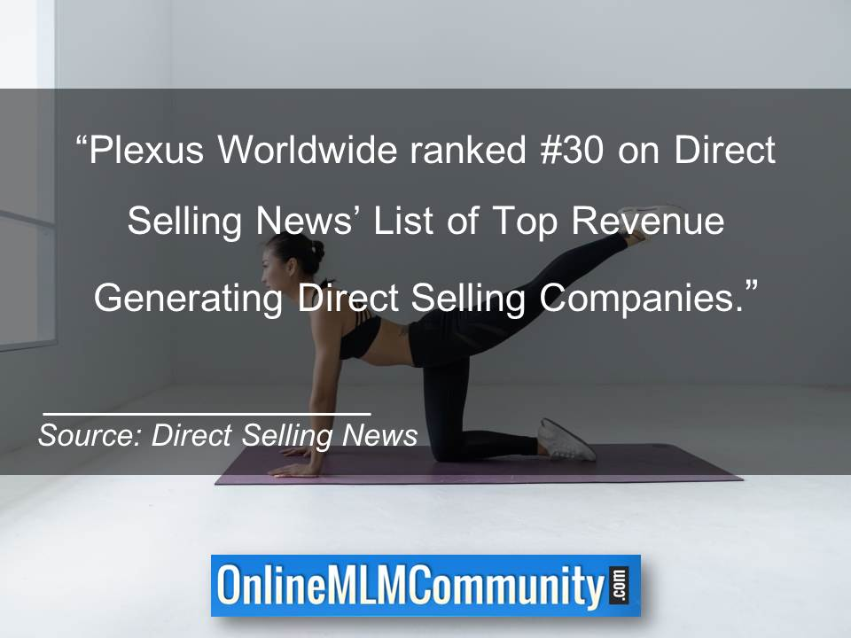 Plexus Worldwide ranked #30 on Direct Selling News List