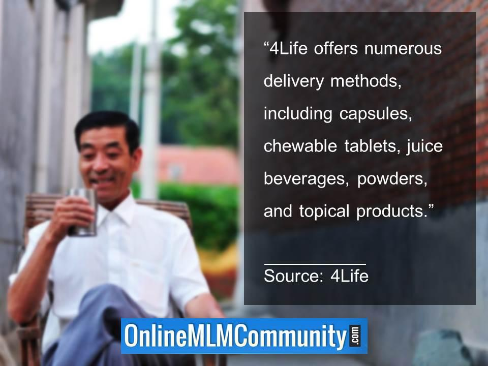 4Life offers numerous delivery method
