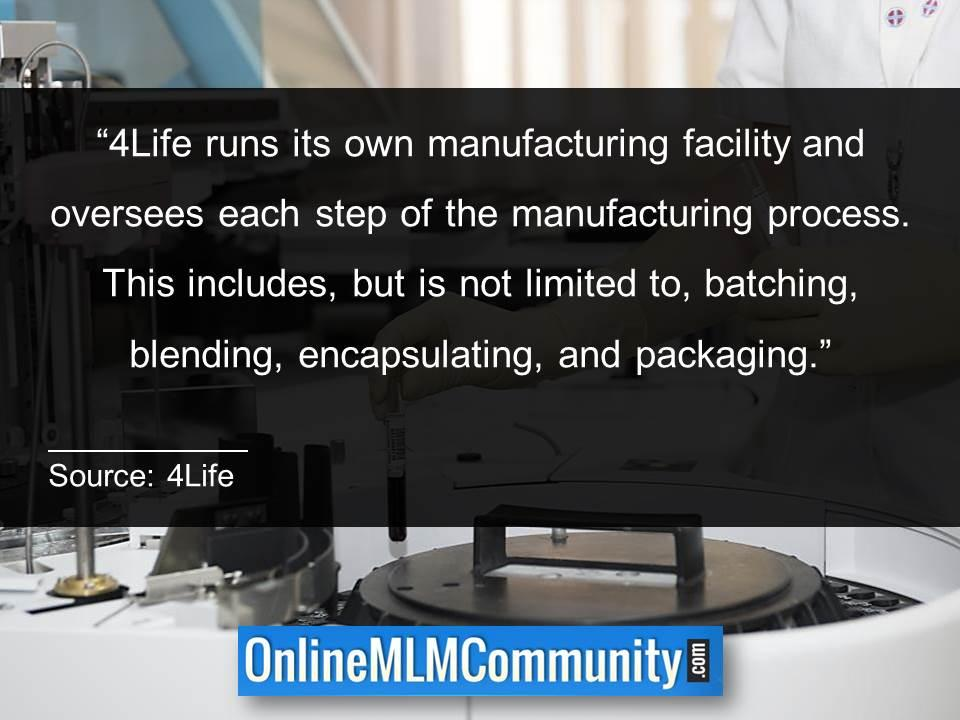 4Life runs its own manufacturing facility