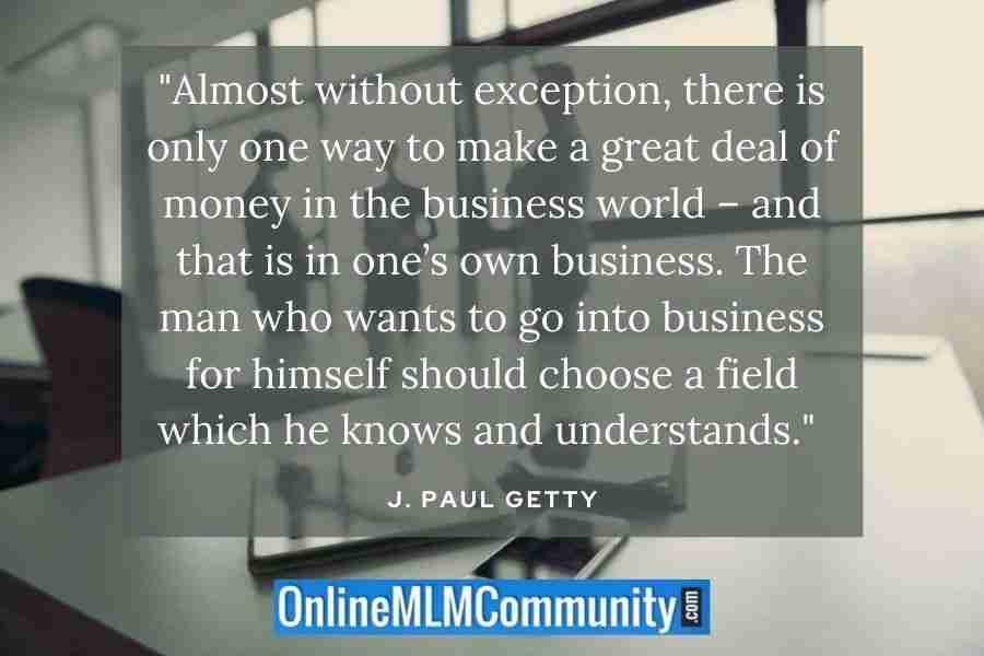 choose entrepreneurship quote