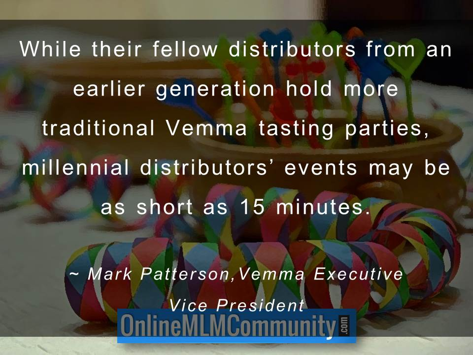 Millennial distributors' events may be as short as 15 minutes