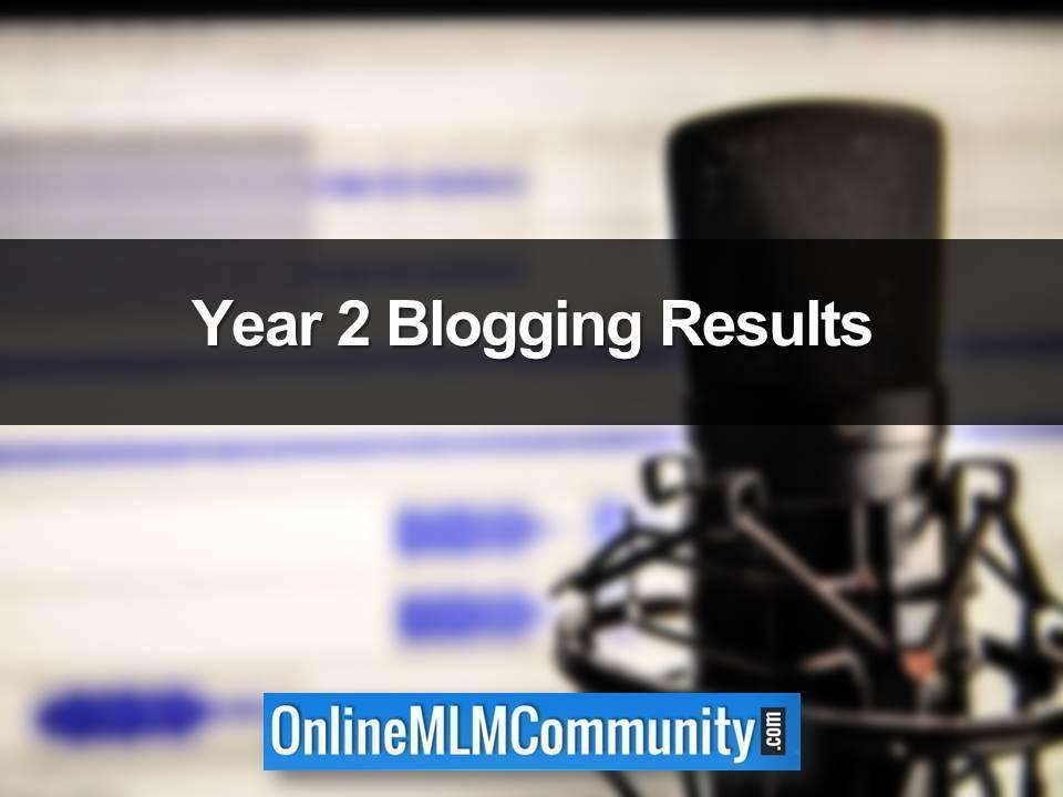 Year 2 Blogging Results