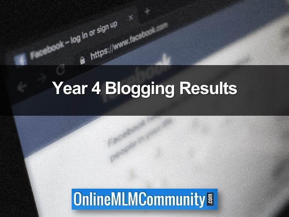 Year 4 Blogging Results