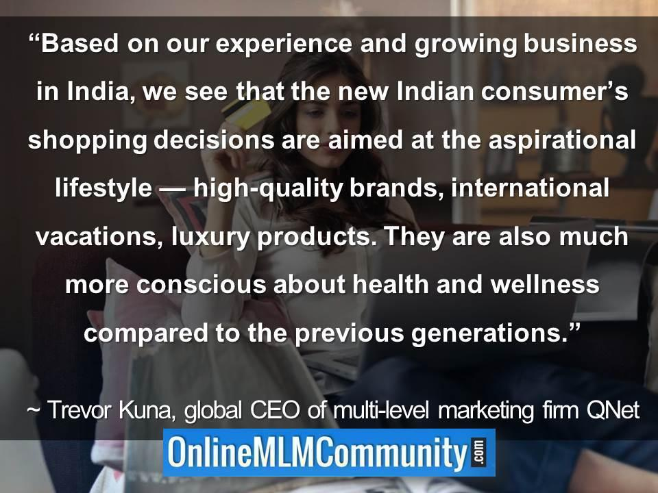 new Indian consumer's shopping decisions are aimed at the aspirational lifestyle