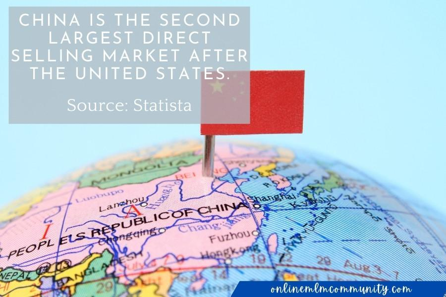 China the second largest direct selling market after the United States.