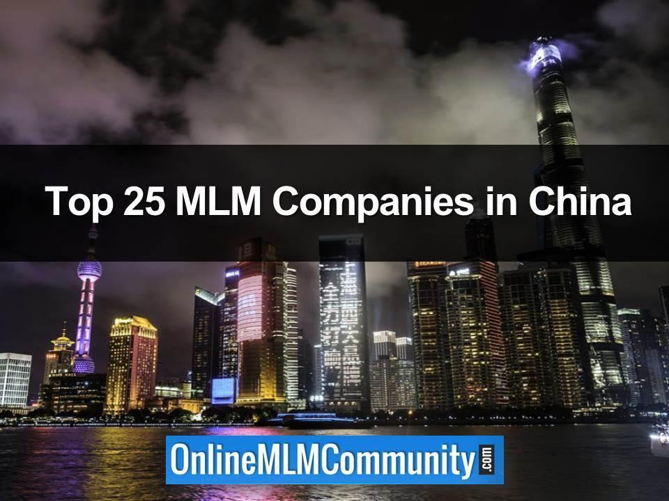 Top 25 MLM Companies in China