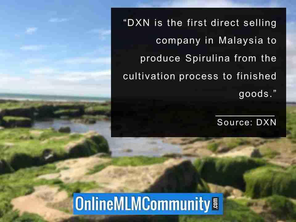 DXN est la première société de vente directe en Malaisie à produire de la spiruline