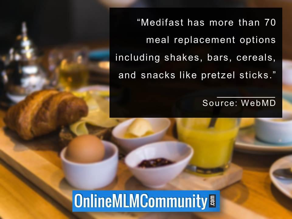 Medifast has more than 70 meal replacement options
