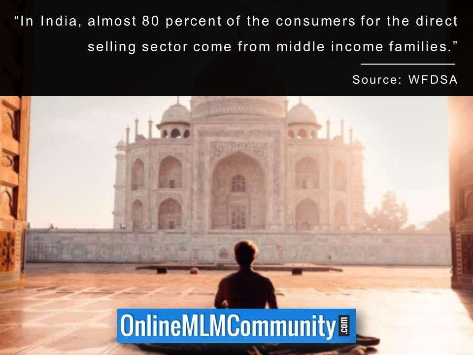 In India almost 80 percent of the consumers come from middle income families