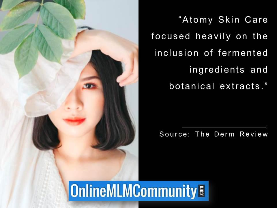 Atomy Skin Care focused on fermented ingredients and botanical extracts