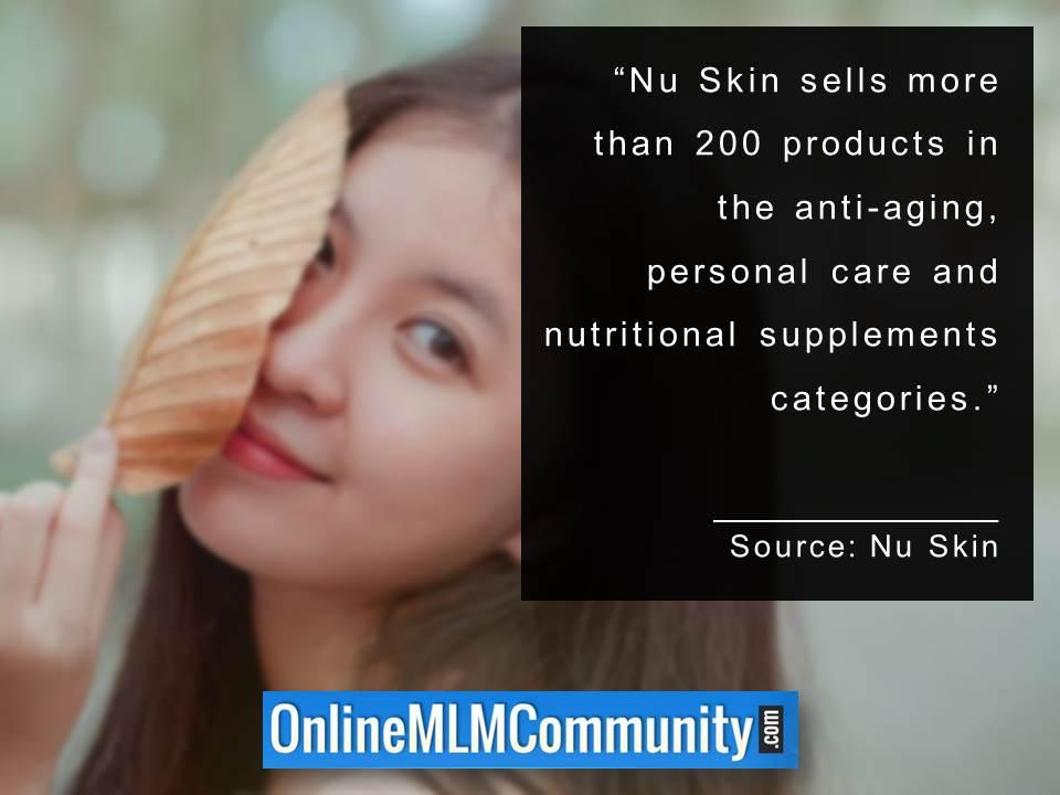 Nu Skin sells more than 200 products