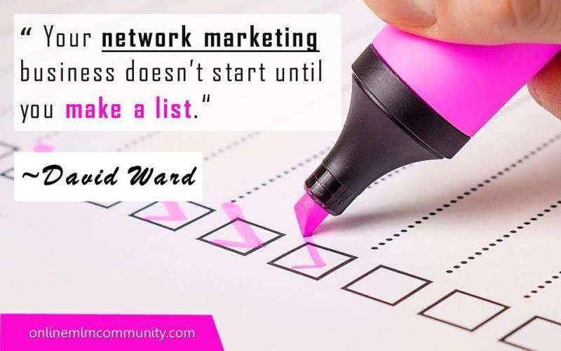 build your mlm list